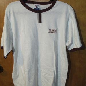 Champion Boston College Embroidered Ringer Shirt L